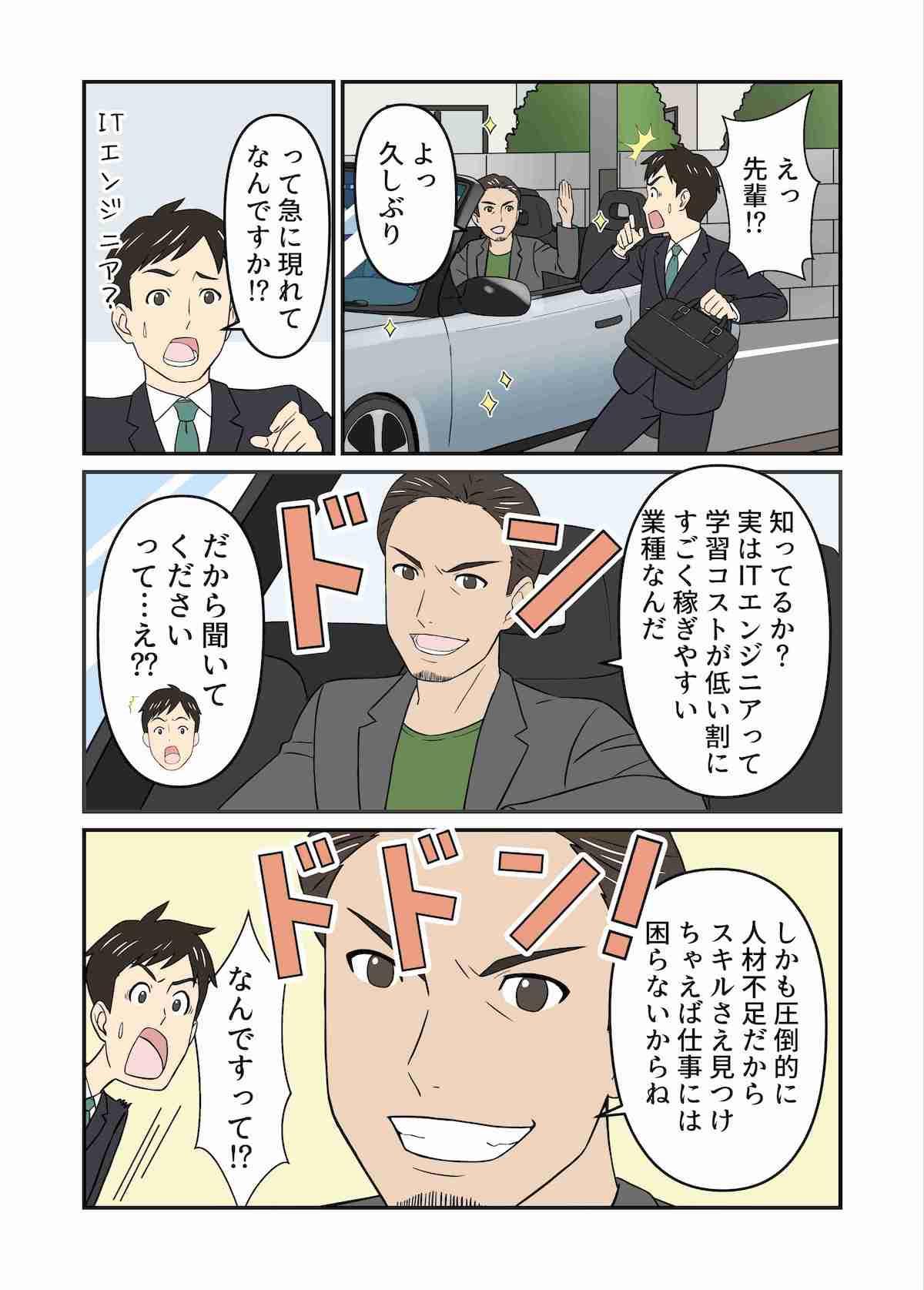 ウェブカツ漫画3ページ目