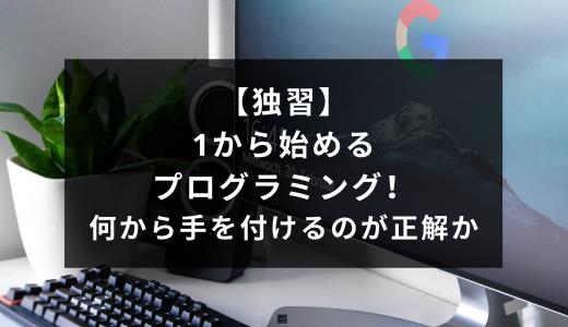 【独習】1から始めるプログラミング!何から手を付けるのが正解か