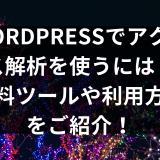 Wordpressアクセス解析プラグイン