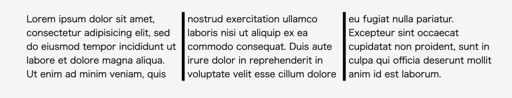 column-rule-widthの解説