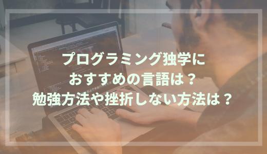 プログラミング独学におすすめの言語は?勉強方法や挫折しない方法は?